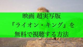 ライオンキング アイキャッチ
